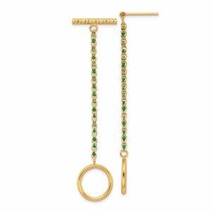 🎁 14K Chain D/C Post And Dangle Earrings
